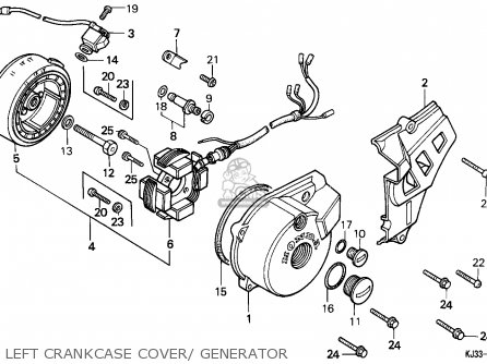 Honda TL125 1983 (D) FRANCE parts lists and schematics