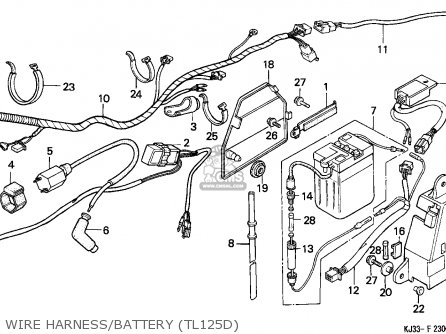 Honda Tl125 1983 (d) France parts list partsmanual partsfiche