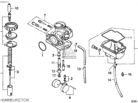 Honda Tl125 1988 France parts list partsmanual partsfiche