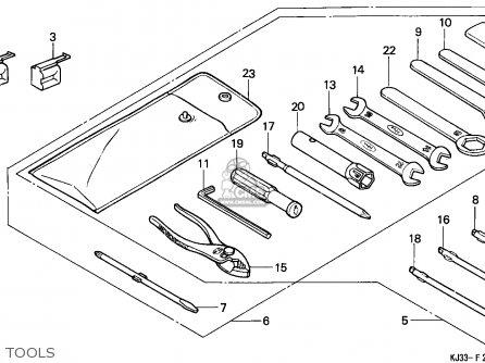 Honda Tl125 1988 France parts list partsmanual partsfiche