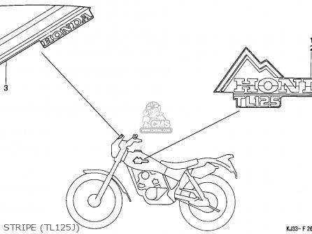 Honda TL125 1988 (J) FRANCE parts lists and schematics