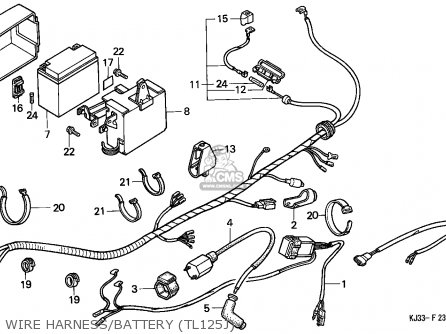Honda Tl125 1988 (j) France parts list partsmanual partsfiche