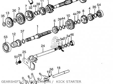 Honda Tl125 Trials 1974 K1 Usa parts list partsmanual