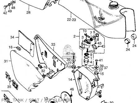 Honda TL125 TRIALS 1975 K2 USA parts lists and schematics