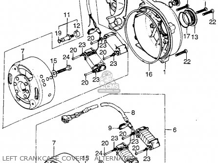 Honda Tl125 Trials K0 1973 Usa parts list partsmanual
