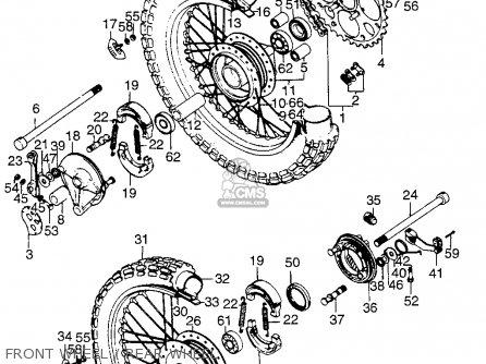 Honda Tl125 Trials K0 1973 Usa parts list partsmanual