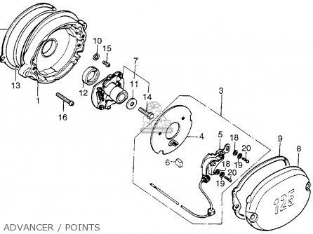 Honda Tl125s Trials 1976 Usa parts list partsmanual partsfiche