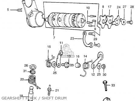 Honda Tl250 Trials 1975 K0 Usa parts list partsmanual