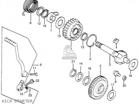 Honda TL250 TRIALS 1975 K0 USA parts lists and schematics