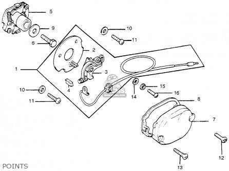 Honda Tl250 Trials 1976 Usa parts list partsmanual partsfiche