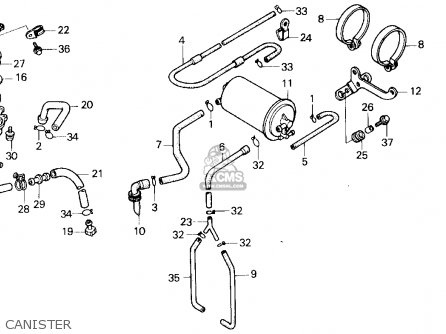 Honda Tlr200 Reflex 1987 (h) Usa California parts list