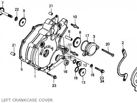 Honda TR200 FATCAT 1986 (G) USA parts lists and schematics