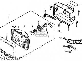 Honda TRX125 FOURTRAX 125 1985 (F) USA parts lists and