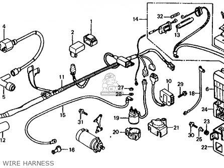 Honda Trx125 Fourtrax 125 1985 (f) Usa parts list