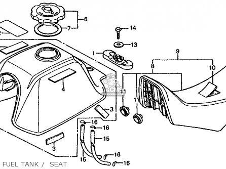 Honda Trx125 Fourtrax 125 1986 (g) Usa parts list
