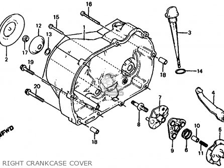Honda TRX125 FOURTRAX 125 1986 (G) USA parts lists and