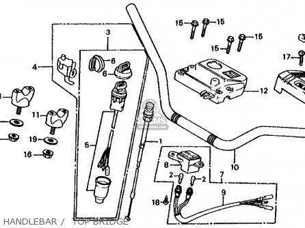 Honda Trx125 Fourtrax 125 1986 Usa parts list partsmanual