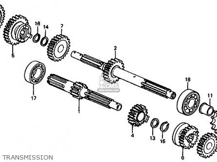 Honda Trx125 Fourtrax 125 1986 Usa Transmission