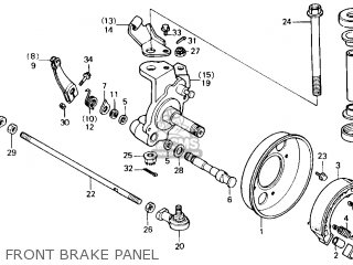 Honda Trx125 Fourtrax 125 1987 (h) Usa parts list
