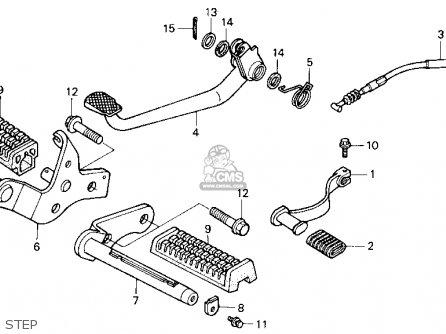 Honda Trx125 Fourtrax 125 1987 Usa parts list partsmanual