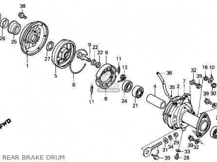 Honda TRX125 FOURTRAX 125 1988 (J) USA parts lists and