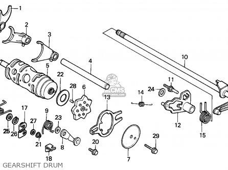 Honda Trx125 Fourtrax 1987 Canada / Ref parts list