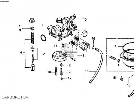 Honda Trx125 Fourtrax 1987 (h) Canada Ref parts list