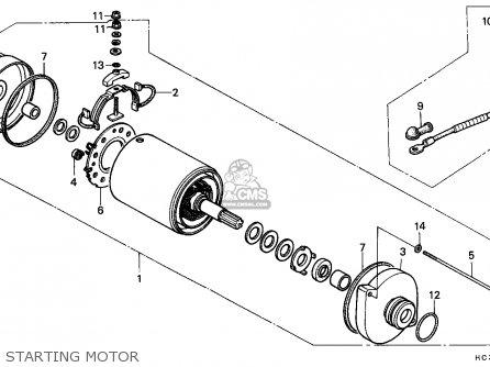 Honda Trx125 Fourtrax 1988 England parts list partsmanual