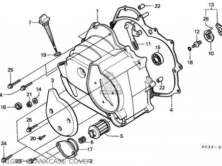 Honda TRX125 FOURTRAX 1988 (J) ENGLAND parts lists and