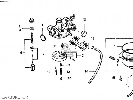 Honda Trx125 Fourtrax 1988 / Ref parts list partsmanual