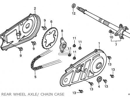 Honda Trx125 Fourtrax 1988 / Ref parts list partsmanual
