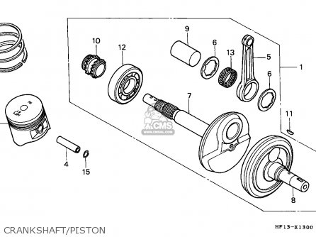 Honda Trx200 Fourtrax 1991 (m) Canada Cmf parts list