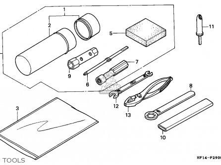 Honda TRX200 FOURTRAX 1991 (M) USA parts lists and schematics