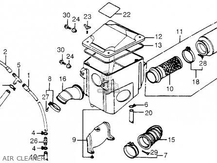 Honda TRX200 FOURTRAX 200 1984 (E) USA parts lists and