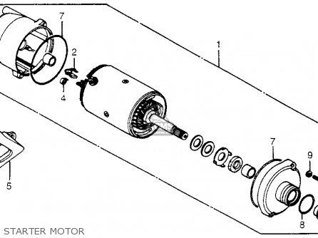 Honda Trx200 Fourtrax 200 1984 (e) Usa parts list