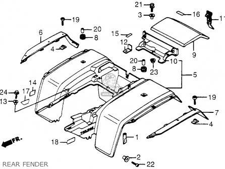 Honda Trx200 Fourtrax 200 1984 Usa parts list partsmanual