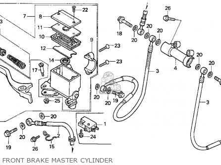 Honda Trx200 Fourtrax 200 1990 Usa parts list partsmanual