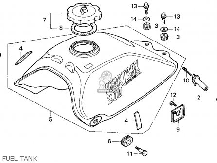 Honda TRX200D 1992 (N) USA parts lists and schematics