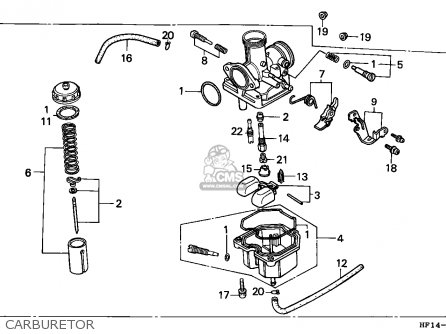 Honda Trx200d Fourtrax 1991 (m) Usa parts list partsmanual