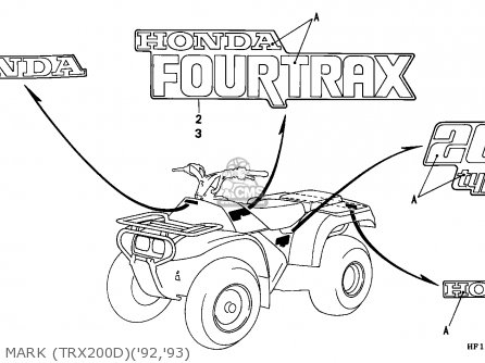 Honda Trx200d Fourtrax 1993 (p) Usa parts list partsmanual