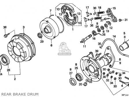 Honda TRX200D FOURTRAX 1993 (P) USA parts lists and schematics