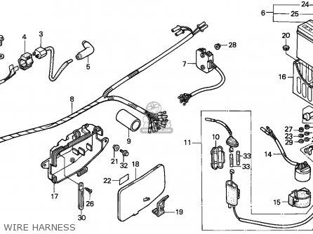 Honda Trx200sx Fourtrax 1986 Australia parts list