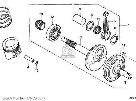 Honda Trx200sx Fourtrax 1986 (g) Australia parts list