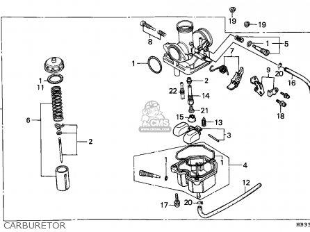 Honda Trx200sx Fourtrax 1986 (g) England parts list