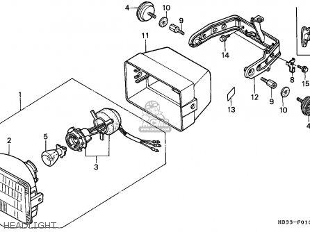 Honda Trx200sx Fourtrax 1987 (h) Canada parts list