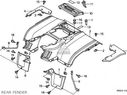 Honda TRX200SX FOURTRAX 1987 (H) CANADA parts lists and