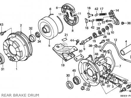 Honda Trx200sx Fourtrax 1987 parts list partsmanual partsfiche
