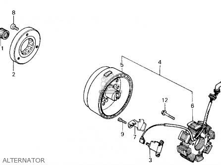 Honda TRX200SX FOURTRAX 200SX 1986 (G) USA parts lists and