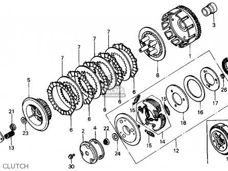 Honda Trx200sx Fourtrax 200sx 1986 (g) Usa parts list