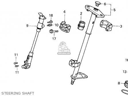 Honda TRX200SX FOURTRAX 200SX 1988 (J) USA parts lists and